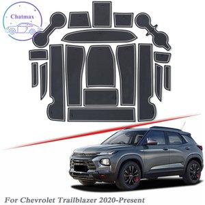 Con Auto Brand Logo 19pcs Car Styling per Chevrolet Trailblazer 2020-Presentlatex gate Slot Pad Interior Door Groove Mat antiscivolo