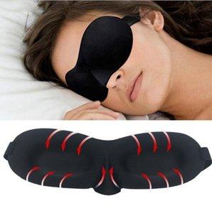 3D Göz Maskesi Yumuşak Yastıklı Uyku Seyahat Gölge Kapak Dinlenme Relax Uyuyan Körgü Kafa Bant Eyepatch Gece Maskesi