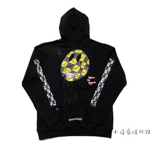 Hong Kong crosin sweater 2021 New Ch zebra earth cartoon graffiti printed Hoodie men's and women's coats