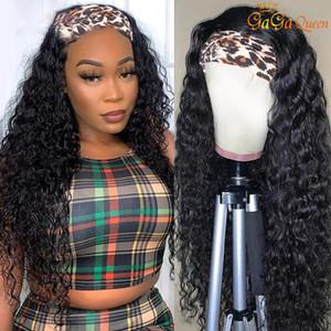 Peruvian Water Wave Headband Wig Human Hair Wigs For Women Peruvian Curly Human Hair Wigs Nature Color