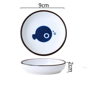Ceramic Plate Home Kitchen Tableware Kitchen Dip Plate Small Vinegar Plate Soy Sauce Plates 7 Style BWA4119