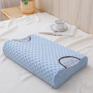 Pillow 2021 Promotion Slow Rebound Therapy Memory Foam Solid Color Soft Core With Pillowcase Decorations For Home Pregnancy