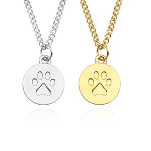 Moda retrò con animale domestico Chain Chain Pendant Dog Footprint Collana Donne Maglione Catena Catena Ragazza Girl Charm Gioielli Regalo Commercio all'ingrosso