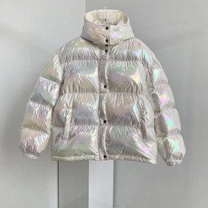 women colorful down jacket shiny down jacket Christmas gift Top Quality Winter Coat Women Casual Outdoor Warm Outwear Thicken Lengthen