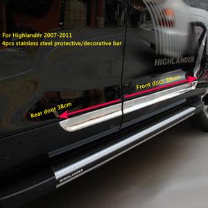 Hohe Qualität Edelstahl 4 STÜCKE Auto-Oberflächen-Seitentür-Schutzbesatz, Tür-dekorativer Aufkleber, Guard-Bar für Toyota Highlander 2007-2011