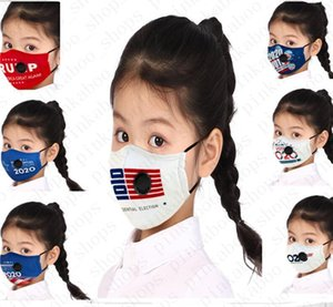 Trump Pm2.5 America for Kids Donald 2020 Usa Printing Breather Valve Face Mask with Filter Pocket Summer Outdoor Cycling Masks D52809