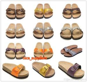 Bo был известный бренд Brand Arizona Men S / Women Slippers Sandals Пряжка Летний пляж Высочайшее качество Кожа