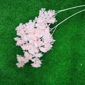 محاكاة البرقوق الكرز أزهار الحرير الاصطناعي الزهور شجرة ساكورا الفروع الجدول المنزل غرفة المعيشة الزفاف الديكور HWF4978