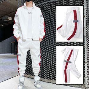 2021 New Men's Athletic Ensemble Spring Fall Group of Hip Hop Men Sweatpants + Casual Jacket Streetwear Suit Track Xqte