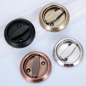Handles & Pulls Hidden Door Stainless Steel Flush Recessed Invisible Knobs Handle Cabinet Fire Proof Disk Room Round Ring
