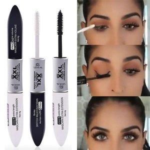 LIDEAL 2 IN 1 4D Silk Fiber Lash Mascara Black Mascaras Waterproof Volume Double Head Lengthening Curling Eye de cilios 1231