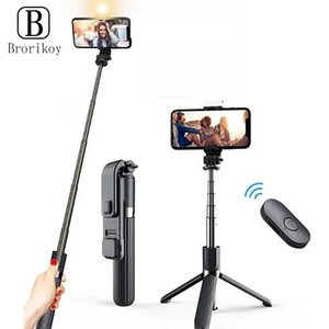Selfie Monopods Wireless Bluetooth Stick Tripod 130 DegreeShutter Remote Control Foldable Mini For IOS Android Samsung Huawei P30