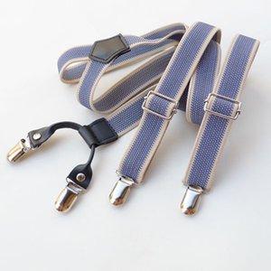 Suspensores Clips Cuero Dual Uso Dual Uso Casual Sling Shirt Holder Traje Breteels Unisex Planchal Ajustable Y-Back Sutpenders Metal Clip On