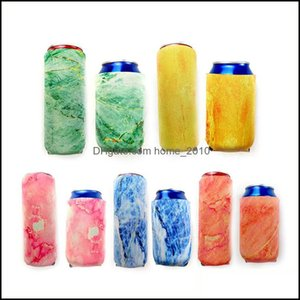 Other Kitchen, Dining Bar Home & Gardenneoprene Bottle Insator Sleeve Marble Pattern Can Beverage Coolers For Energy Drink Beer Cans Koozies