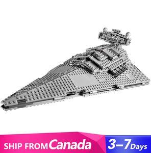 UE EUA em estoque 05062 1359PCS Super Star Imperial Star Destroyer Blocos de Construção Bricks Kids Brinquedos Presente de Natal 75055
