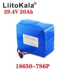 LIITOKALA 29.4V 20AH 18650 Ebike Pil Paketi 3000 mah 7S6P 250 W 350 W 500 W 750 W Elektrikli BicyClecell 24V Lityum Piller