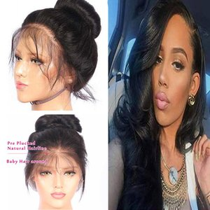 360 Full Lace Human Wigs ,Brazilian Virgin Hair 150 Density Body Wave Full Lace Wigs with Baby Hair ,Natural Color Fashion Hair