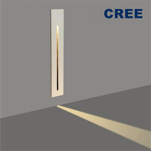 CREE 3W светодиодный настенный светильник PIR датчик движения утопленные лестницы ступенчатые украшения прихожей лестницы света 85-265V крытое наружное освещение