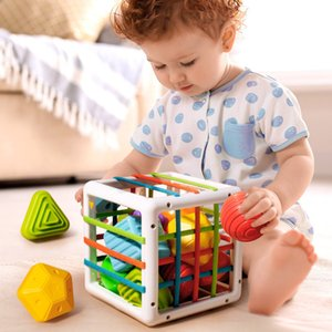 Baby classification game block, Montsori baby education toy, 0-12 months birth gift, new shape colorNS4Y