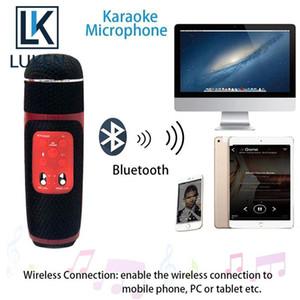 Wireless Microphone Professional Bluetooth Speaker Handheld Condenser Karaoke Mic Radio Recording Studio Music Player Singing