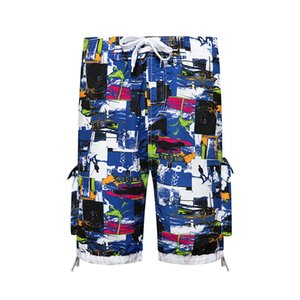 Quick drying beach pants loose lined 5-inch hot spring swimming trunks seaside vacation Shorts large underpants men's