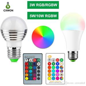 E27 E14 LED 16 Color Changing RGB rgbw Light Bulb Lamp 85-265V RGB Led Light Spotlight + IR Remote Control