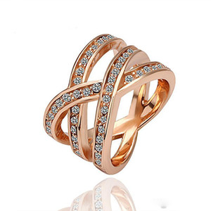 Rings Beautifully Rose Gold Bands Dress 18K Gold Diamond Engagement Silver Rings Fashion Masonic Diamond Rings