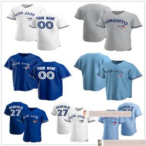 Пользовательские 2020 Новые Мужчины 27 Герреро-младший Джастин 14 Smoak Kendrys 8 Morres Aaron 41 Санчес Сшитые Женщины Дети Молодежные бейсбольные майки