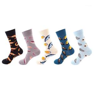 Comfortable Casual Cute Women Underwear Fish Print Womens Sock Spring Summer Ankle Breathable Hosiery Mens Socks
