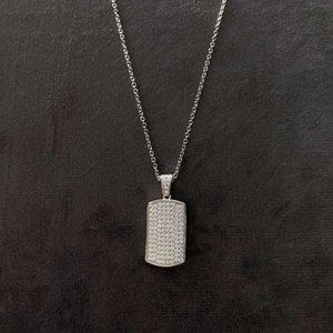 HBP luxury Jewelry New S925 pure silver temperament geometric women's cross chain fashion white diamond necklace