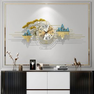 Nouvelle Montre de luxe de style chinois Salon Art moderne Ménage 3D Horloge murale Creative Simple Fashion Murall Décoration