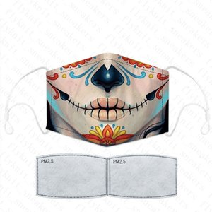 Cheap Hot In stock! PM2.5 Activated Carbon designer face mask Gasket Cotton Print Masks Reusable Washable Breathable Dus