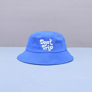 2021 Yeni Stil Moda Joker Mektup Baskı Kova Şapka Balıkçı Şapka Açık Seyahat Şapka Güneş Kap Şapka Çocuk Erkek Ve Kız 07