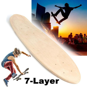 24 Inch Fish Skateboard Longboard Natural Single Foot Wooden Maple Blank Deck Board Parts DIY Skateboard Accessories Kids Gift