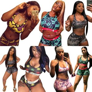 2021 Swimwear Women Bra Shorts Swimming Trunk Pants Ladies Two Piece Tracksuit Sexy Camo Swimsuit Bikini Set