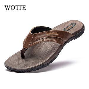 I flip flip flops wott slippers moda spiaggia sandali casual scarpe estive per uomini fuori pantofole di grandi dimensioni 40 ~ 46 zapatos hombre 210306