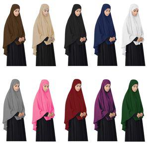 Abaya Мусульманская молитва Отель Hijab Большой Химар Равномерная шаль накладной голод наверху вуаль Амира Никабс Ниндзя Хаджа Арабский исламский Рамадан