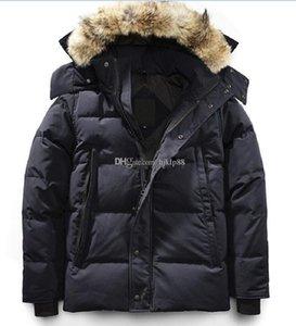 Winter Fourrure Down Parka Homme Jassen Chaquetas Outerwear Wolf Fur Hooded Fourrure Manteau Wyndham Canada Down Jacket Coat Hiver Doudoune