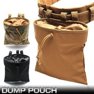 Tactical Molle Waist Packs Dump Magazine Pouch Drawstring Hunting Recovery Gadget Bag Accessories