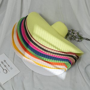 Verão Super Grandes Beavias Seaside Palha Hat Hat Holiday Modelo Sun Chapéu Prova Dobrável Praia Sunhat