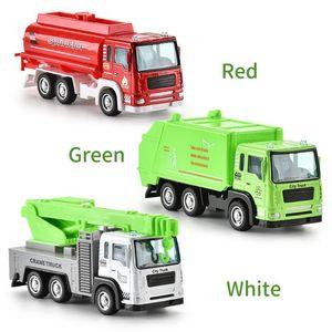 1:55 Mini Alloy Car Model Toy Fire Truck Sanitation Truck Rescue Vehicle Cartoon Car For Boys Gift 02