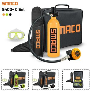 Pool & Accessories SMACO C400+ Set Scuba Diving Reserve Air Tank Oxygen Cylinder Mini Operated Pump Snorkeling Equipment