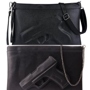 3D Print Gun Pistol Bag Brand Women Bag Chain Messenger Bags Designer Clutch Purse Ladies Envelope Clutches Crossbody Bag Bolsas C0224