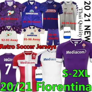 Ретро ACF Fiorentina футбольные трикотажки Batistuta Rui Costa 1992 93 95 96 98 99 2000 Vestiti Da Calcio 20 21 футбольные рубашки Ribéry Men Kids Kit