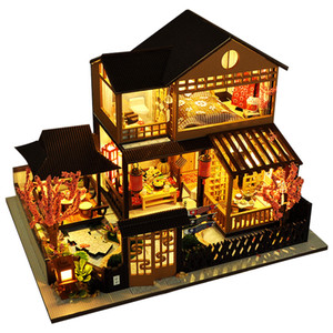 CUTEBEE Kids Toys Dollhouse with Furniture Assemble Wooden Miniature Doll House Diy Dollhouse Puzzle Toys For Children TB23 210225