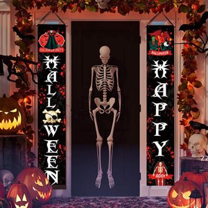 15 styles Festival Halloween Decorations Banner Flags couplet garden outdoor Curtain Ghost Day Party Hand flag banners door HWB10497