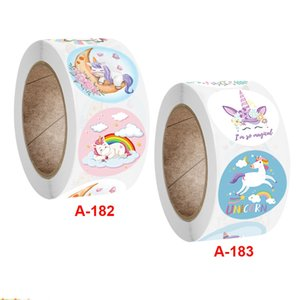 Coated Paper Cartoon Adhesive Sticker 1 inch Many Designs Circle Printing Stickers Decal