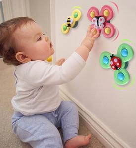 Fidget spinner baby glocke spielzeug bade drei farbenfutter drehen rosa gelbe elternkind wechselwirkung relax finger butterfly insekten bienen fy4472