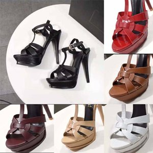 Classics Women shoes Sandals fashion Beach Thick bottom heels Alphabet lady Sandals Leather High heel shoes slides home011 01