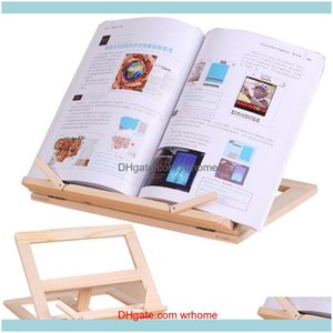 Aessories Supplies Office School Business & Industrialadjustable Portable Wood Book Stand Holder Wooden Bookstands Laptop Tablet Study Cook